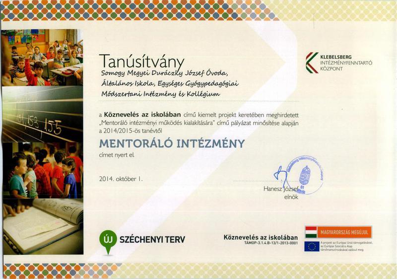 mentoráló intézmény
